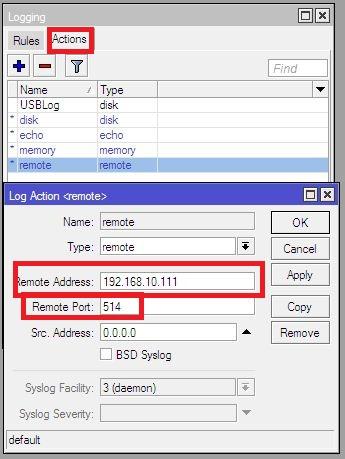คู่มือการติดตั้ง MikroTik เก็บ Log file บน Kiwi Syslog